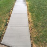 sidewalk removed and replaced with new cement