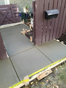 New concrete sidewalk in Edmonton