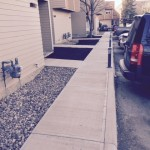 C ment sidewalks and parking curbs
