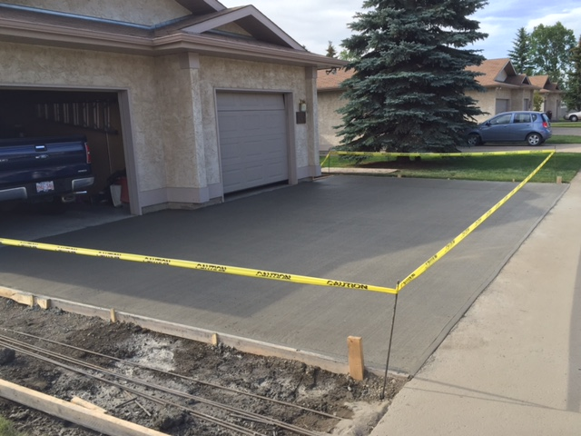 Residential concrete edmonton call 780 975 7721 for New concrete driveway