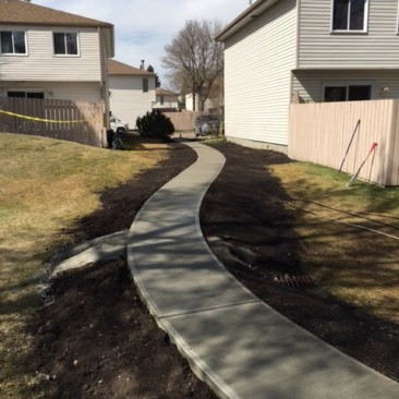 Final landscaping for Edmonton condo contract