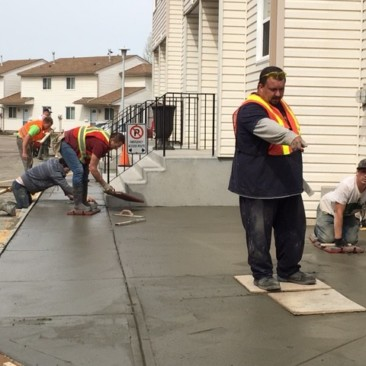Cement patio contractor in Edmonton