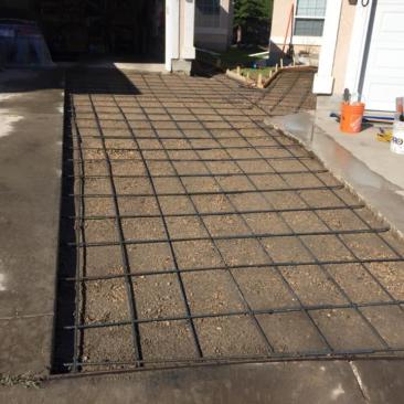 sidewalk ready for cement
