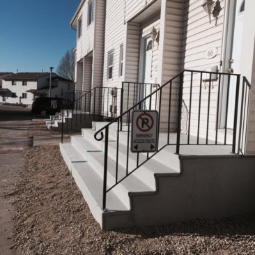 new concrete stairs and walkway Edmonton